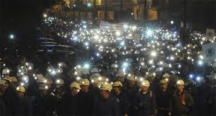 Manifestación mineros 2012