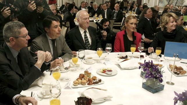 Gallardón, Ignacio González, Echeverría, Cifuentes y Aguirre en una imagen de archivo. EFE