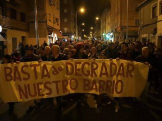 Manifestación en Vallecas contra los narcopisos.