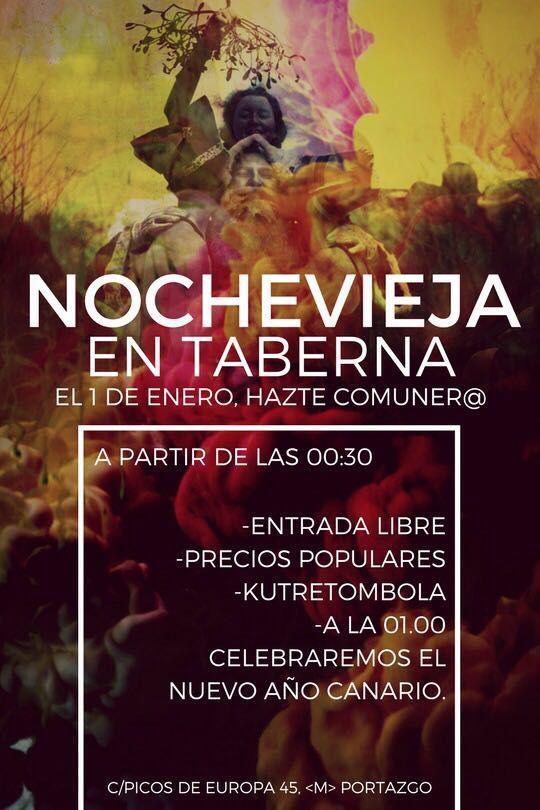 Nochevieja en Taberna Madrid