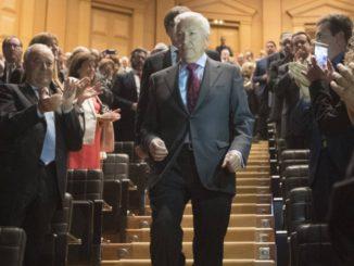 El presidente de Cecot, Antoni Abad, en la última cena anual de la patronal.