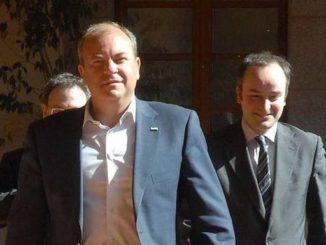 Monago y Redondo, en la sede de la Junta en el año 2012